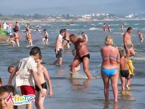 Витязево, купание в море 16.06.2011. Анапа Курорт Инфо купаемся в море го