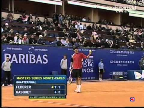 Richard Gasquet vs Roger Federer -- FULL MATCH  Monte-Carlo 2005