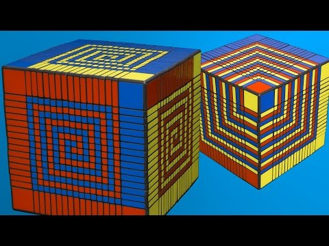 17x17 Patterns: Cube in Cube - Spiral - Superflip
