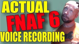 Actual VO Recording Session for FNAF 6: Five Nights at Freddy's 6 Video Game Voice Over Session