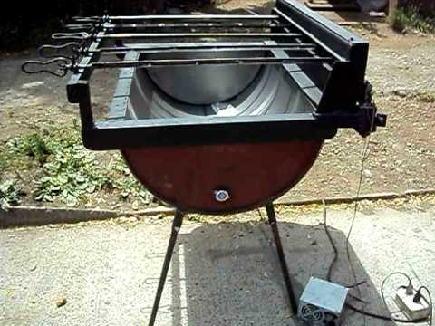 Asador electrico multiple youtube for Asadores para jardin modernos