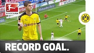 Record Goal Aged 17 - Dortmund's Pulisic Writes Bundesliga History