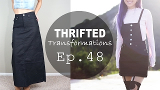 DIY Overall Dress | Thrifted Transformations Ep. 48