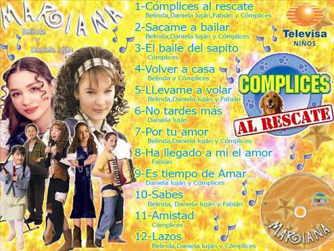 Cómplices Al Rescate disco MARIANA Belinda Y Daniela luján