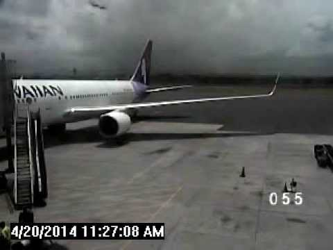 Kahului Airport video of stowaway leaving Hawaiian Airlines jet