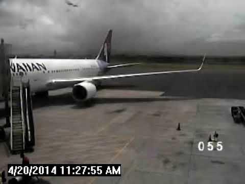Kahului Airport video of stowaway leaving Hawaiian Airlines jet