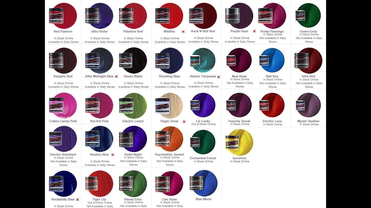 Hair dye colors manic panic pictures