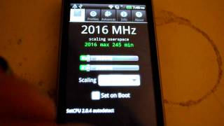 HTC Desire Z (Vision G2) overclocked to 2GHz