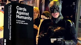 Batman plays CARDS AGAINST HUMANITY