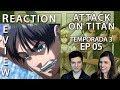 ATTACK ON TITAN (SHINGEKI NO KYOJIN) 3X5   REACT & REVIEW   A APOSTA DE ERWIN(REUPLOAD)