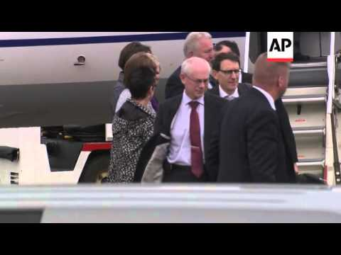 G8 and European leaders arrive for summit