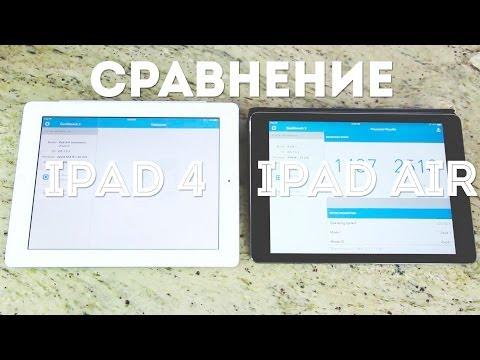 Сравнение iPad 4 и iPad Air.