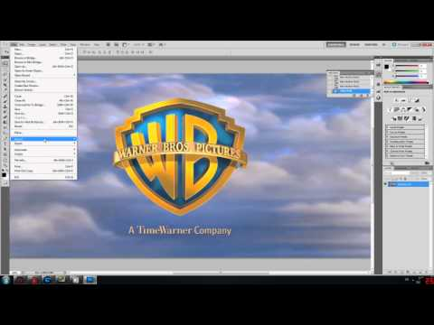 WarnerBros Logo Tutorial - Cinema 4D - Photoshop [HD]