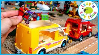 Cars for Kids | HOT WHEELS GAS STATION AND CONSTRUCTION VEHICLES BONANZA! Trains and Police and More