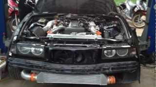 E36 2JZ GTE first start.