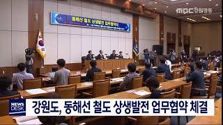 강원도, 동해선 철도 상생발전 업무협약 체결