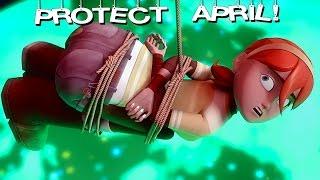 Protect April O'Neil! Leonardo & Ninja Turtles animation vs gameplay. TMNT Legends Episode