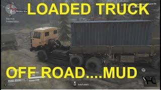 Off Road - LOADED TRUCK DRIVING-  DELIVERY - Spintires - MudRunner  Par #2