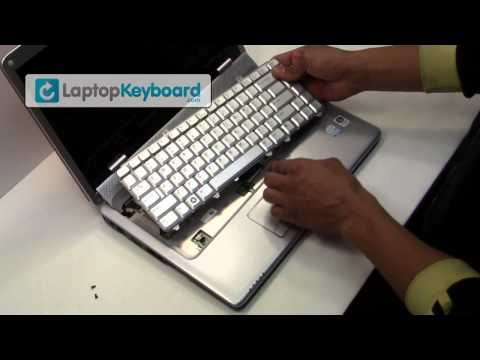 Dell Inspiron Laptop Keyboard Installation Replacement Guide - 1525 1545 - Remove Replace Install