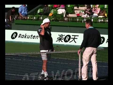 Jurgen Melzer in 2nd round Rakuten Japan Open 2009 Video
