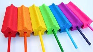 Learn Colors Ice Cream Popsicles Kinetic Sand Kids Magic Sand