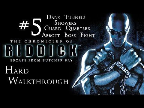 The Chronicles of Riddick - Escape From Butcher Bay - Hard Walkthrough - Part 5 - Abbott Boss FIght