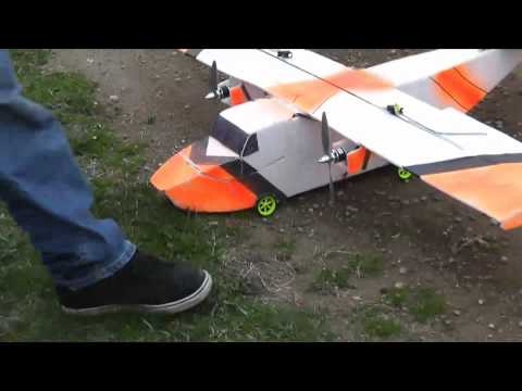 0 RC cargo plane bomb dropping and crash
