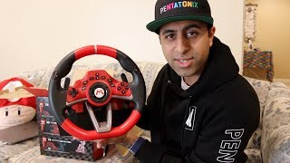 Mario Kart Racing Wheel Pro Deluxe (Nintendo Switch) Unboxing
