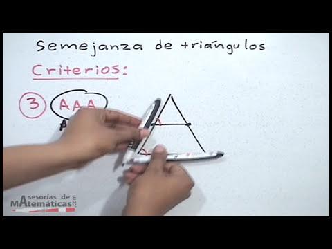Criterios de triángulos semejantes - HD