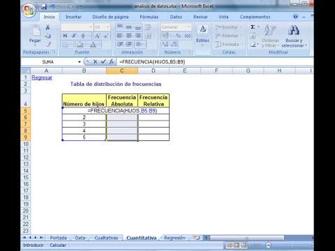Uso de frecuencia en excel 2007 2003
