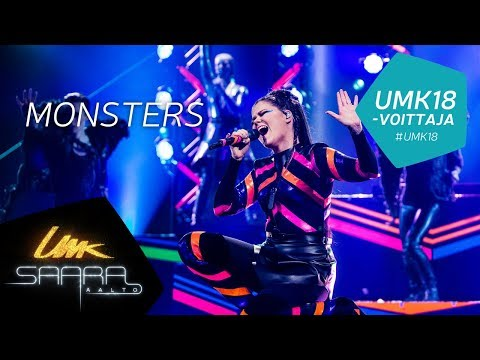 UMK18 // Saara Aalto: Monsters live // Euroviisuedustaja // Finnish Eurovision entry