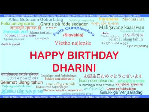 Dharini   Languages Idiomas - Happy Birthday