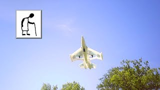 Silverlit X Twin Jet RC Plane flying 180514