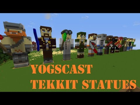 Yogscast Tekkit Statues