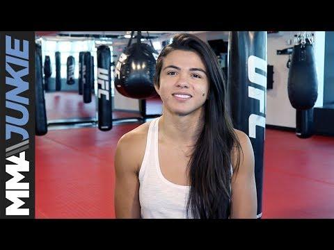 Claudia Gadelha UFC 225 media day in Las Vegas
