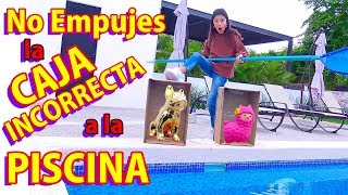 NO EMPUJES LA CAJA INCORRECTA A LA PISCINA | TV Ana Emilia