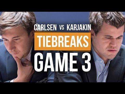 Karjakin vs Carlsen: World Championship Tiebreak Game 3