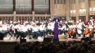 "Tori Ackley performs her own composition ""Happy To Be Me"" with the Cleveland Pops Orchestra"