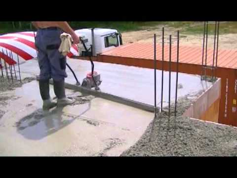The Outpouring Of Reinforced Concrete Slab Building A House The Ceiling Youtube