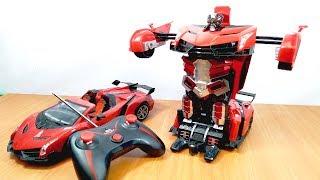 Mở hộp đồ chơi Xe biến hình Robot Transformer Điều Khiển Từ Xa