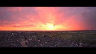 Beautiful Sunset Winsum - From The Sky