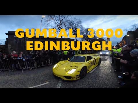 Gumball 3000 coming in to Edinburgh 2016