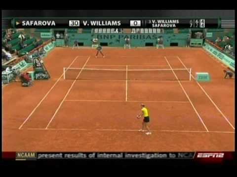 Venus Williams VS Lucie Safarova 7/10- French Open 2009- 2nd Round Video