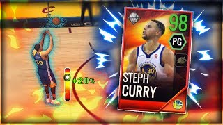 98 OVR SHOWSTOPPER CURRY GAMEPLAY!! DROPPING 51 POINTS ON THE CAVS!! NBA LIVE MOBILE 18