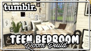 The Sims 4: Room Build || Tumblr Teen Bedroom