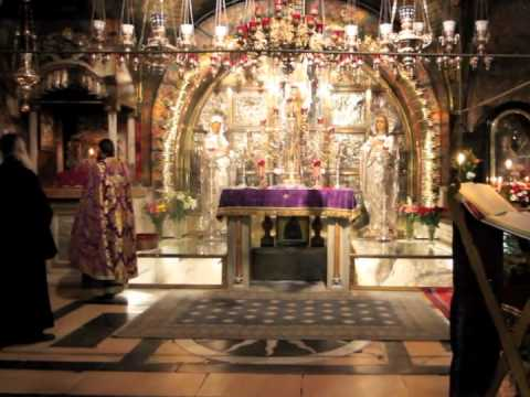 The Liturgy of the Presanctified Gifts at Golgotha, Holy Sepulchre, Jerusalem