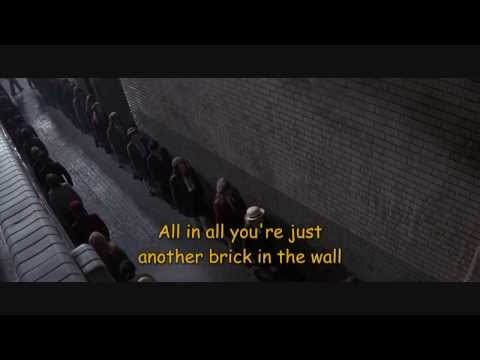 Pink Floyd-another Brick In The Wall- Lyrics-subtitles- ''the Wall'' video