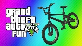 GTA 5 Online Funny Moments - BMX Bike Fun, Wack-a-Bike Mini Game, Chipotle!  (Gmod Transition Goof!)