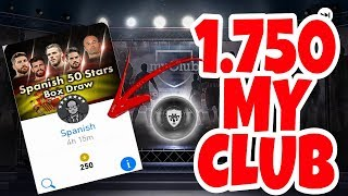 PES 2018 MOBILE - GASTEI 1.750 MY CLUB NA BOX DA ESPANHA !