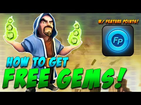 How to Get Free Gems in Clash of Clans with FeaturePoints! + Clash of Clans Gameplay!